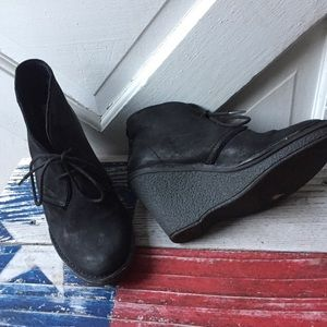 Bussola by Anthropologie black leather booties